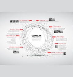 infographic abstract timeline report template vector image vector image