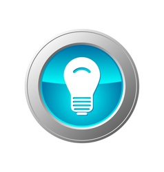 light bulb button vector image