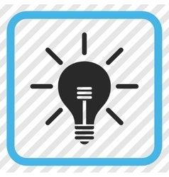 Light bulb icon in a frame vector