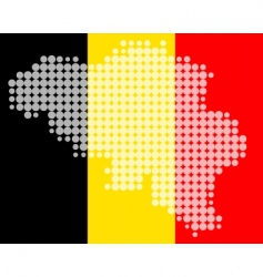 map and flag of Belgium vector image vector image