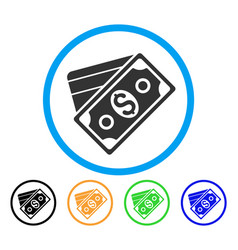 Money rounded icon vector
