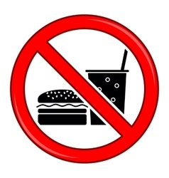 No Food Allowed Symbol Prohibition Sign vector image vector image