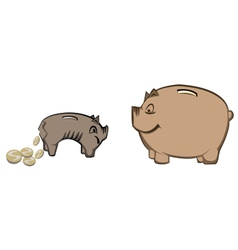 pigy bank1 vector image vector image