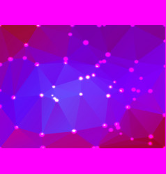 Pink purple blue geometric background with lights vector