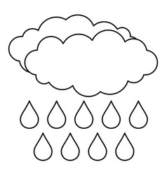 rain icon outline style vector image vector image