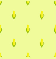 seamless pattern yellow corn in flat style vector image