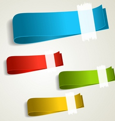 set of colorful tag labels vector image