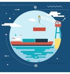 Shipment freight symbol ocean sea river shipping vector