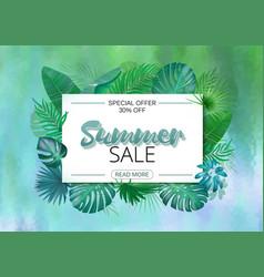 Summer sale banner summer sale poster design for vector