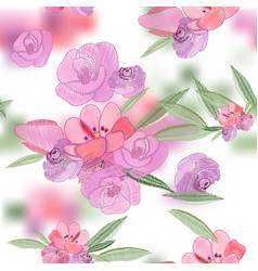 vintage romantic of fashionable bouquets of vector image vector image