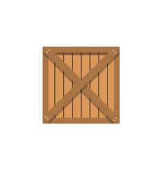 Wooden box cargo shipping merchandise vector
