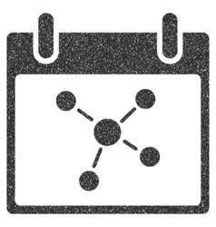 Connections calendar day grainy texture icon vector