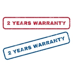2 years warranty rubber stamps vector