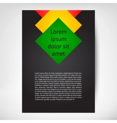 Vertical flayer leaflet vector