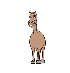 Smiling horse vector