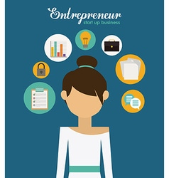 Entrepreneur design vector