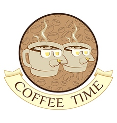 Coffee time coffee break vector