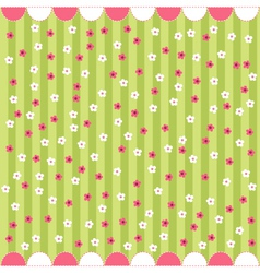 seamless floral pattern baby card vector image