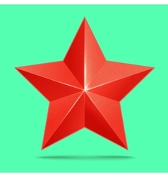 Red 3d star premium the best reward vector