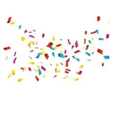 Colorful confetti isolated on white confetti vector