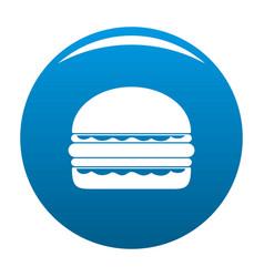 burger icon blue vector image