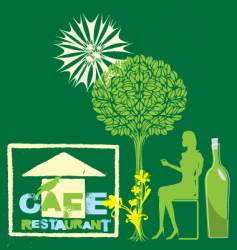 cafe nature vector image