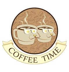 Coffee time coffee break vector image