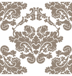 Damask elegant flower ornament pattern vector