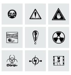 Danger icon set vector