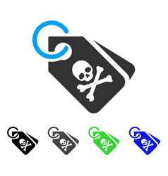 death tags flat icon vector image vector image