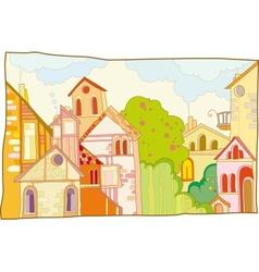 fantastic lodge street vector image