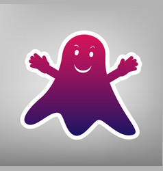 Ghost sign purple gradient icon on white vector