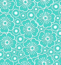 Graphic hibiscus floral seamless pattern vector