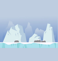 Ice background game style collection vector