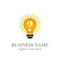 Idea light bulb logo vector