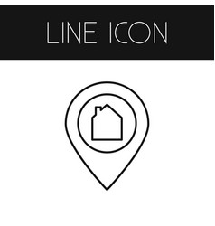 Isolated pinpoint outline location element vector