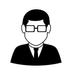 Man guy boy person suit tie face head vector