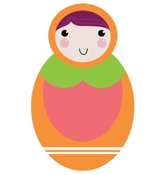 Matryoshka - russion doll isolated on white vector