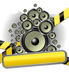 musical theme vector image vector image