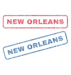 New orleans textile stamps vector