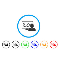 Online erotics viewer user rounded icon vector