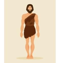 Primitive man neanderthal vector