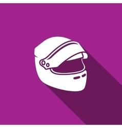 Racing helmet icon vector