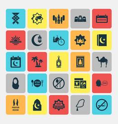 Religion icons set collection of illuminator vector