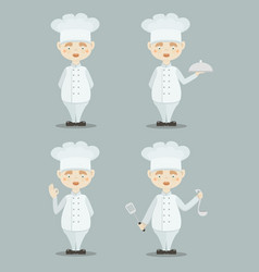 Set of funny cooks vector