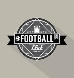Soccer or football club label vector