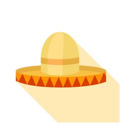 Sombrero hat icon flat style vector