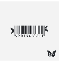 Spring Sale Bar code Design Background vector image vector image