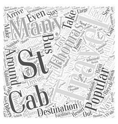 Traveling around the st thomas island word cloud vector