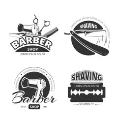 Vintage barber shop logo labels and badges vector